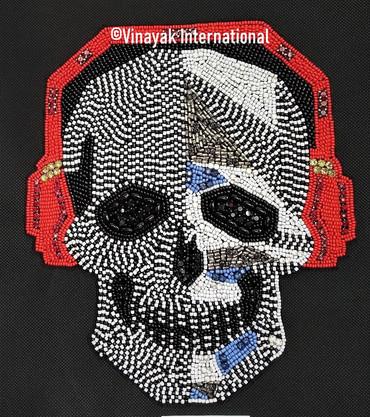 Headphones on Skull Motif