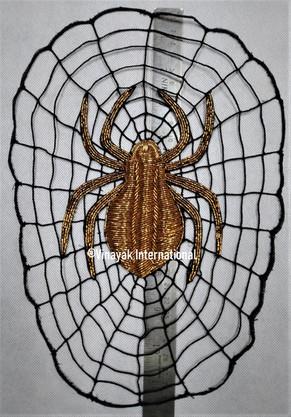 Gold Spider motif with spiderweb