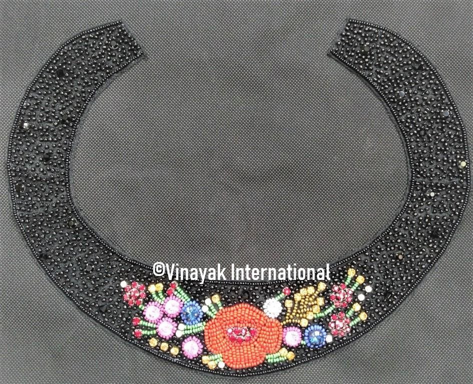 Beaded Neckline with Floral pattern