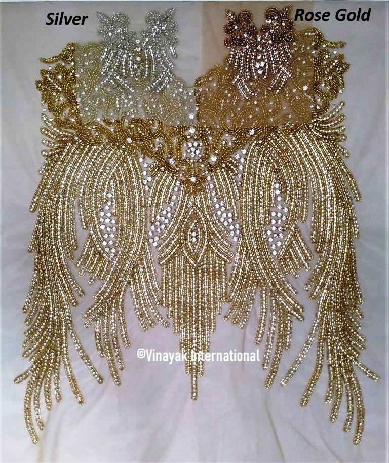 Gold bodice also available in Silver & Rose Gold