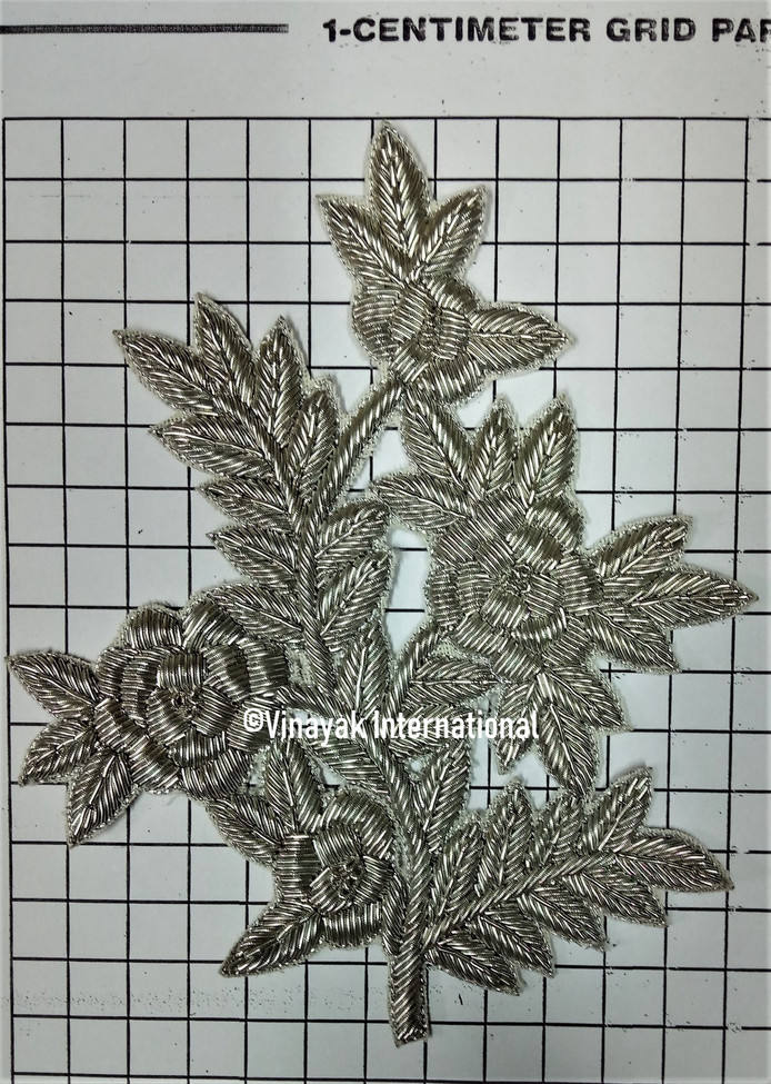 Silver Floral Motif