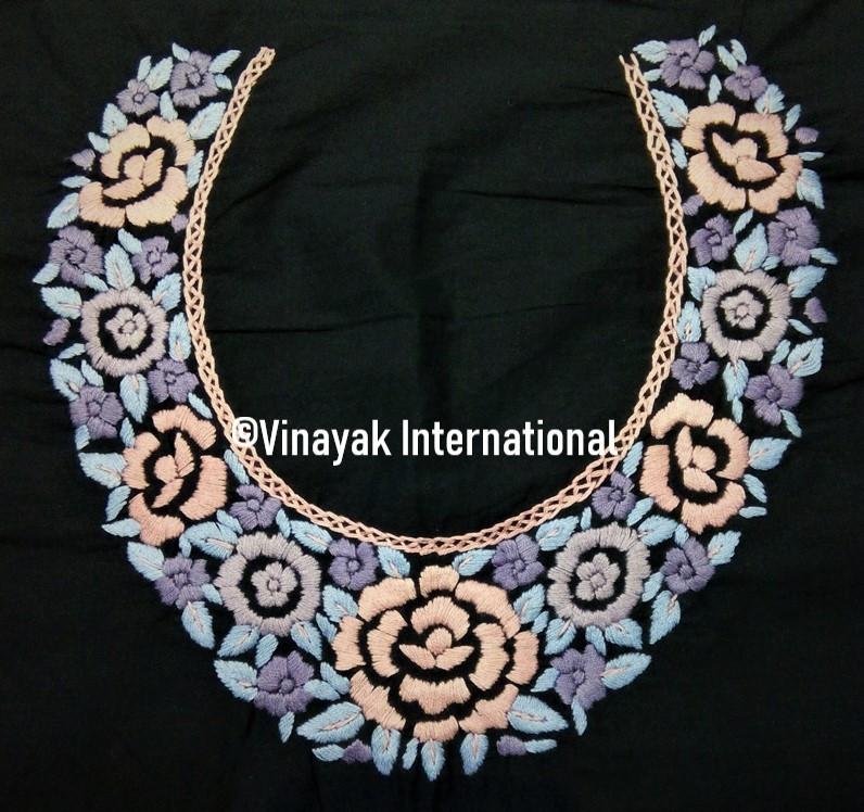 Classic Multicoloured Floral Neckline