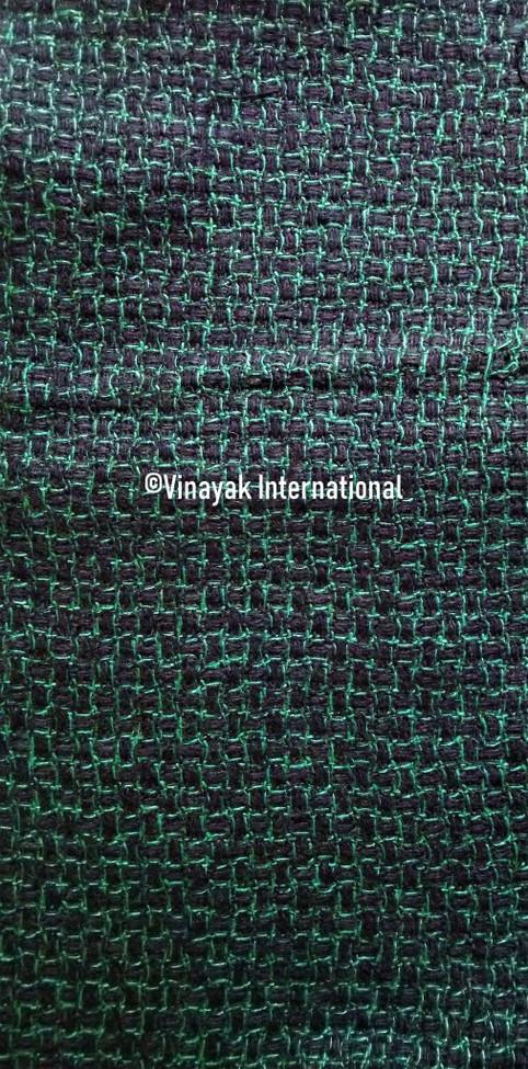 Green Squares silk fabric