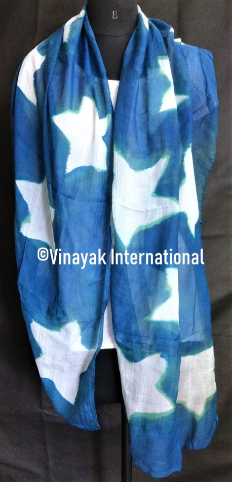 Sky blue stole with white stars