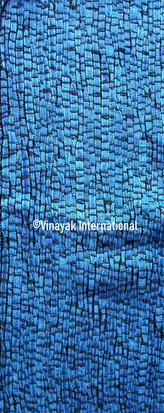 Electric Blue stripes silk fabric