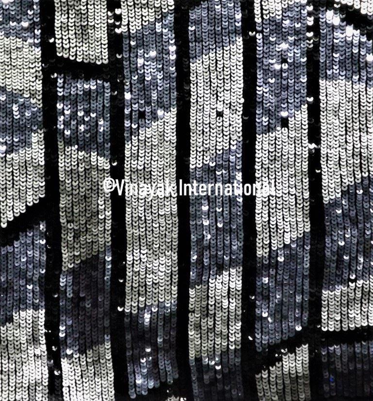 Silver Grey Sequin novelty