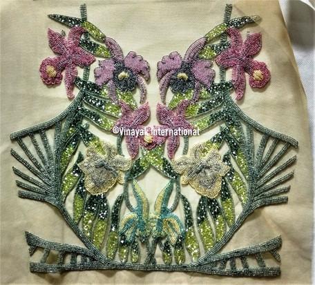 Classic floral Panel/Bodice