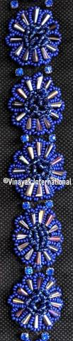 Electric Blue floral Trim