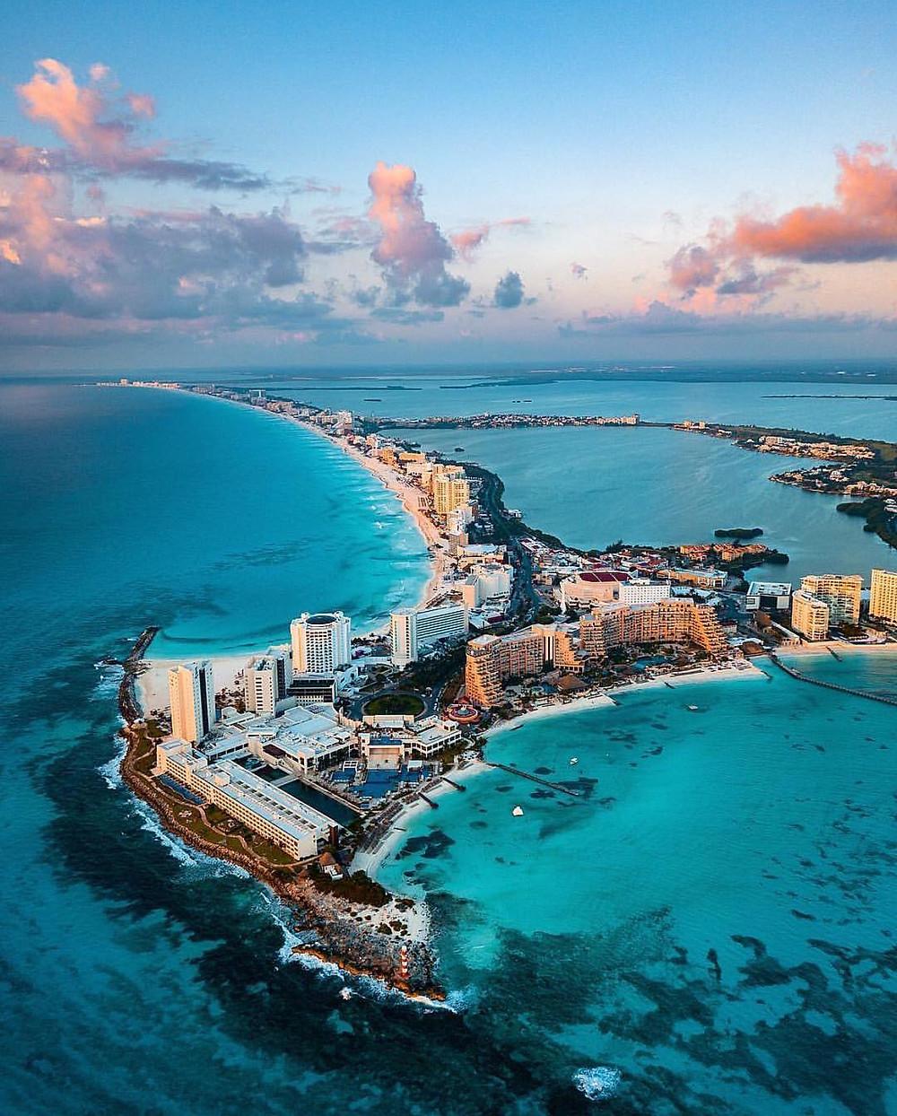 Foto aérea de Cancuún