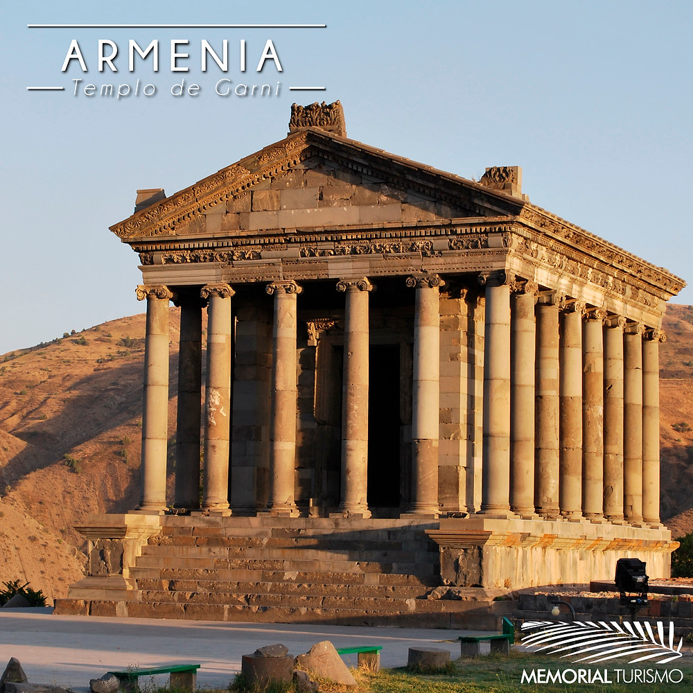 O Templo de Garni é um templo clássico helênico localizado na cidade de Garni, na Armênia. Construído em algum período do século II ou I a.C., foi reconstruído na década de 1970.
