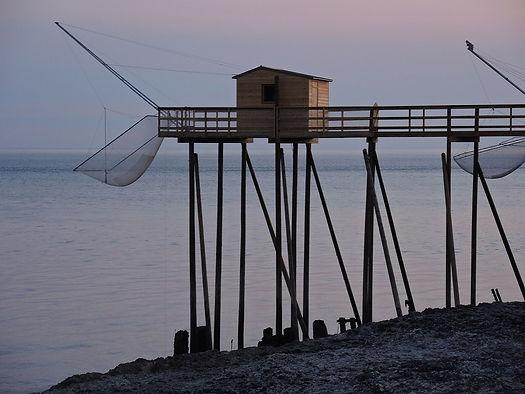 une cabane sur la Garonne en Gironde