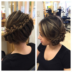 Instagram - Love This Beautiful Quick Side-Swept Braided Updo Done by Sofia! Cal