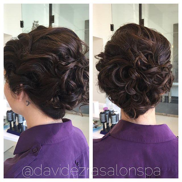 Beautiful Bridal Style by Stylist Sofia at David Ezra Salon & Spa! #