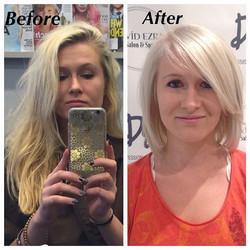 Instagram - Beautiful Before & After at David Ezra Salon & Spa! Color Correction
