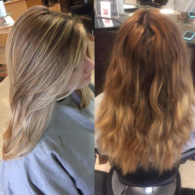 😍😍 Corrective Color is not an easy job but someone has to do it! This beautiful transformation was