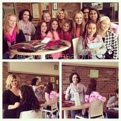 Schuyler Colfax Goes Pink!! Marlo & Dana Visiting the School today t