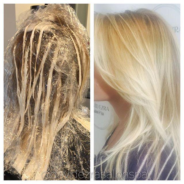 Beautiful Hair Painting Balayage by Stylist Sofia at David Ezra Salo