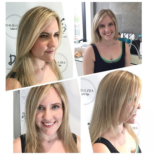Highlights & Haircut by Stylist Victoria at David Ezra Salon & Spa #