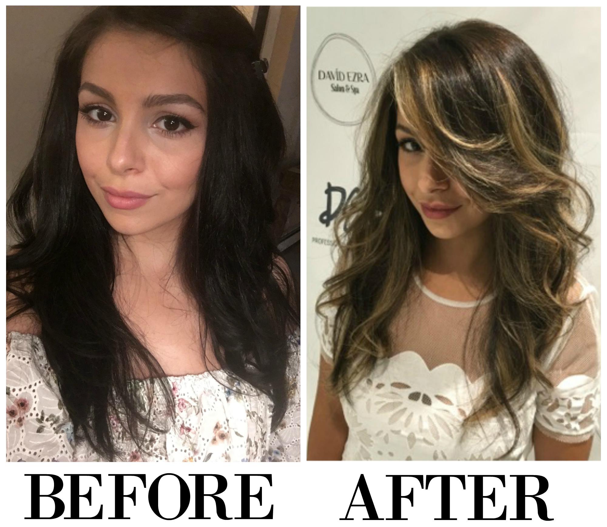 Before & After Balayage by David