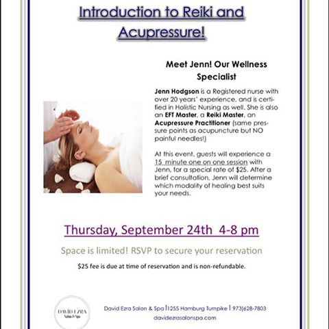 Instagram - Join us for our Intro to Reiki & Accupressure Event with Jenn, our W