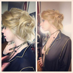 Hair by Stylist Fani for Photo Shoot