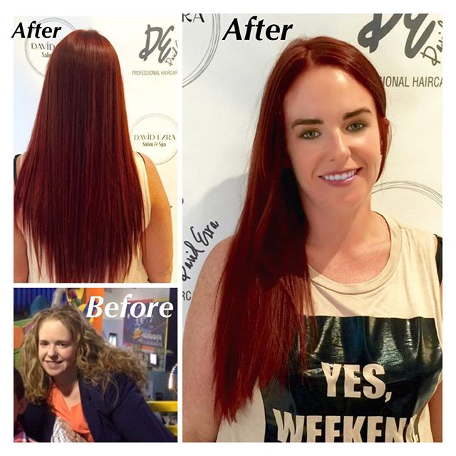 Beautiful Transformation from Blonde to Stunning Red Head