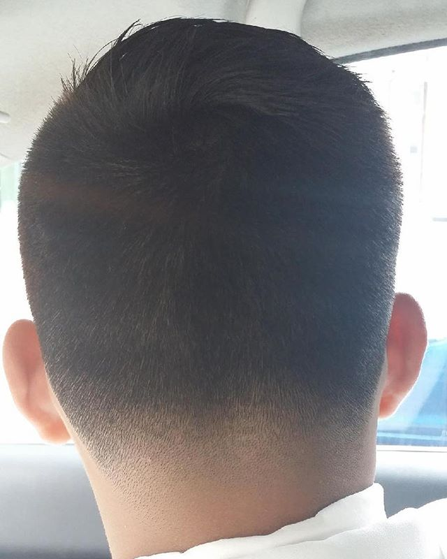 Blended and faded to perfection! Visit our stylist and barber Gerardo now! Book with him online or g