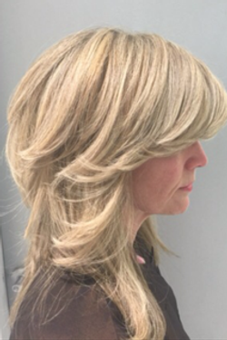 Color, Highlight & Haircut by David