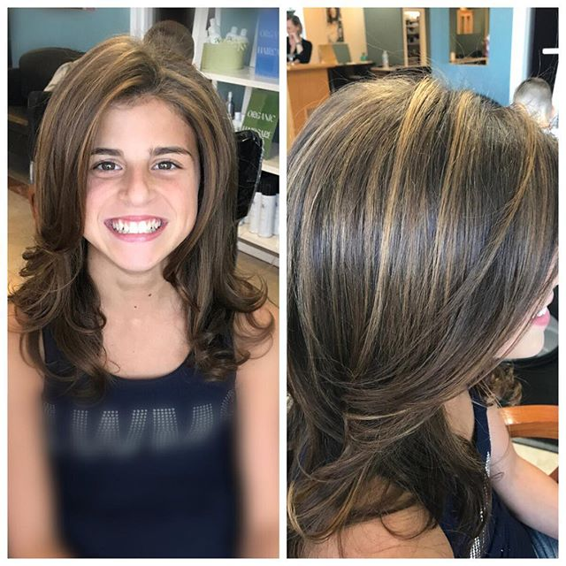 Subtle highlights to start the school year! This client was nothing but smiles after visiting Stylis