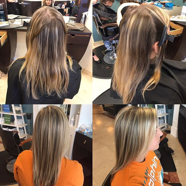 A bit of blending, & highlighting created an awesome transformation by Stylist Kimmi! Book your appo
