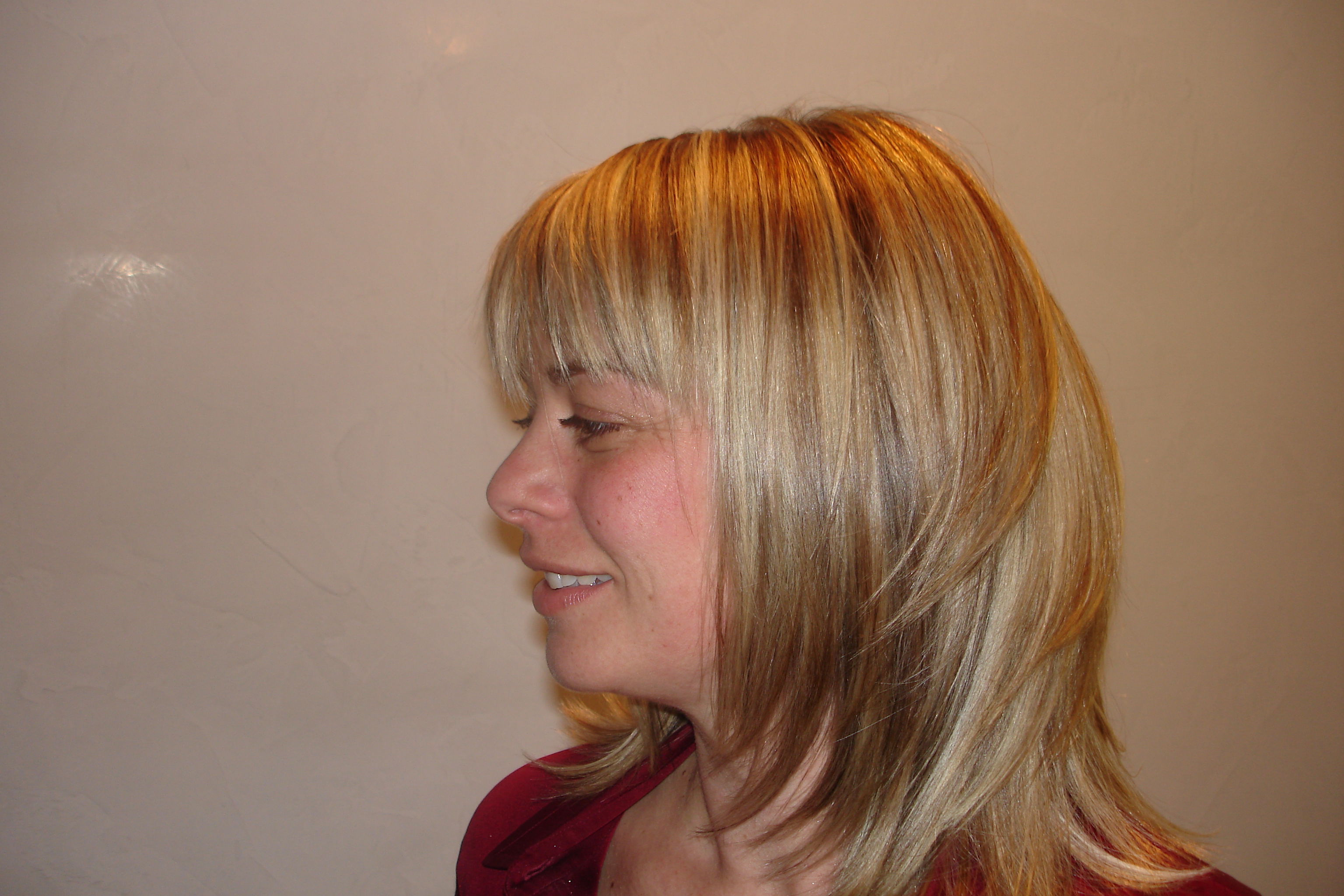 Color, Highlight & Haircut by David