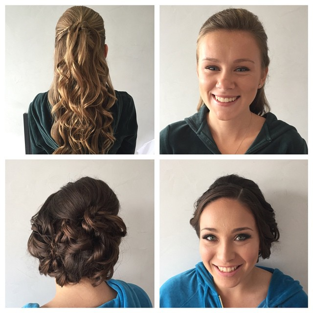 Hair by Sofia and Dana & Makeup by Jess and Lana! Prom Season at Fac