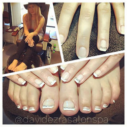 Bride to Be French Shellac Manicure & Pedicure by Joan! Mazel Tov on
