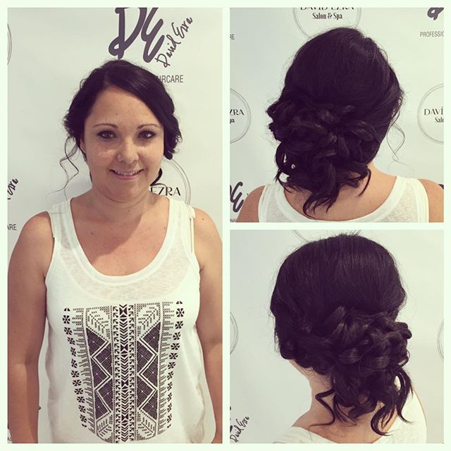 Beautiful Updo & Makeup By Stylist Lana at Faces Plus's New Location