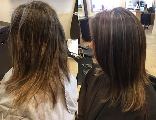 Awesome color corrections, highlights and cut by our talented stylist Stephanie! Book your appointme