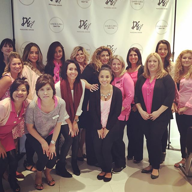 David Ezra Salon & Spa Goes Pink!! Stop in and Donate $10 for a Pink