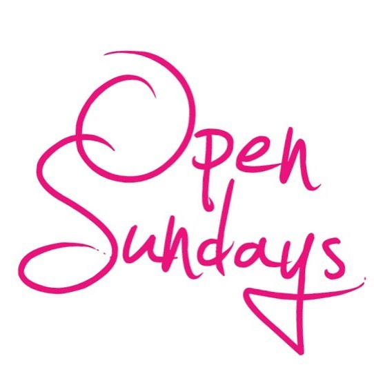 YES! We are open Sundays! (Please Note_We are open Saturday but will be closed this Sunday for Labor