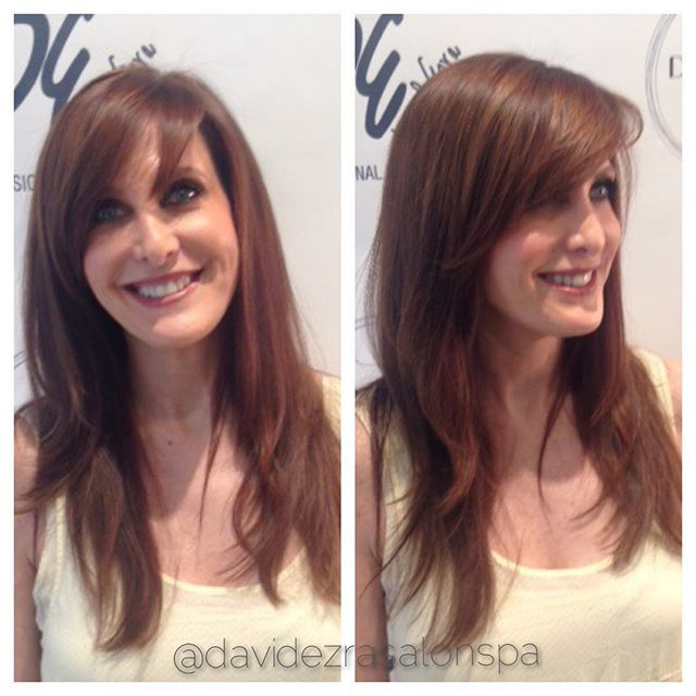 Perfect For Fall Color & Haircut by Master Stylist David at David Ez