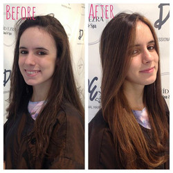 Before & After Balayage and Haircut by Stylist Brittany at David Ezr