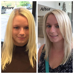 Fabulous Before & After Highlights with Olaplex & Haircut by Stylist