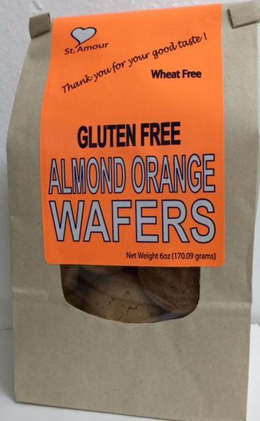 St Amour WAFERS - Almond Orange - Gluten Free