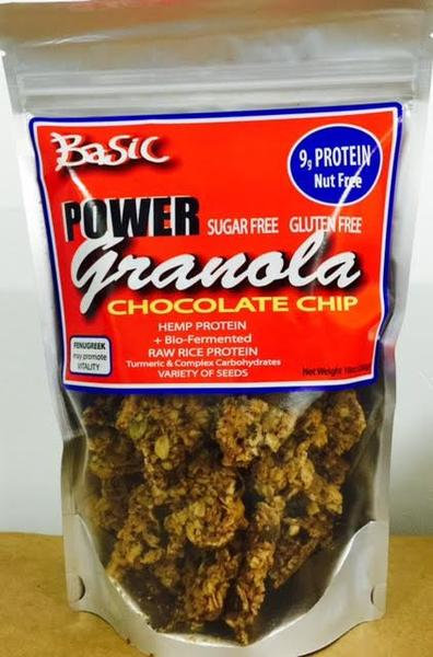 with Chocolate ChipsBASIC POWER GRANOLA- Gluten Free