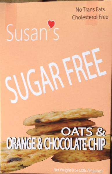 SUSAN'S SUGAR FREEVegan cookies - Orange & Chocolate Chip