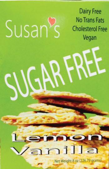 Susan's Sugar Free Vegan Cookies - Lemon-Vanilla