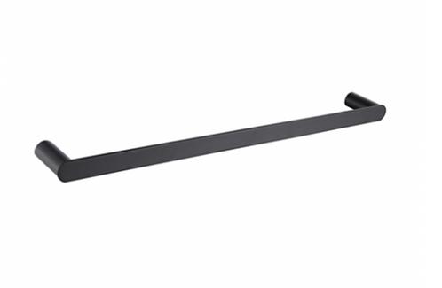 Matte Black Single Towel Rail 600mm