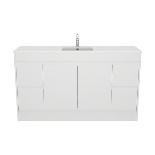 1500 PVC Vanity on Kickboard (Single Bowl)