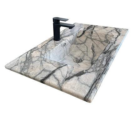 Marble Effect Vanity Top 750mm