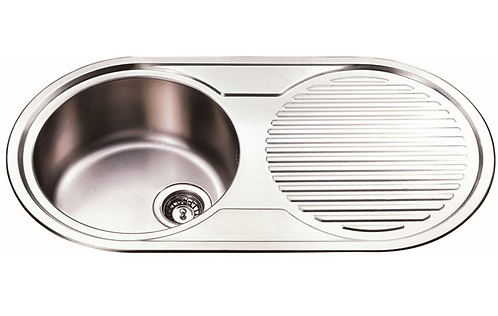 Stainless Steel Round Single Bowl 915x485x200mm