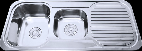 Stainless Steel Double Bowl Kitchen Sink 1080x480x170mm