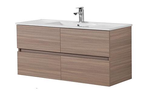 1200 Oak Vanity with Ceramic Top